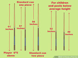 pool table sizes chart how to choose a pool cue 10 steps with pictures wikihow