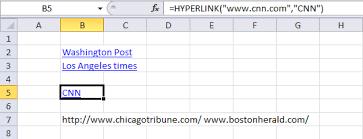 list all hyperlinks in worksheet