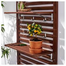 äpplarö bench w panel and shelves outdoor ikea