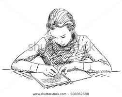 sketch writing notebook hand drawn stock vector 508369588