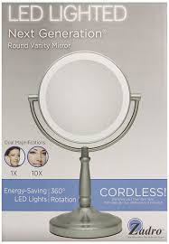 zadro lighted makeup mirror amazon com zadro 10x 1x magnification dual sided vanity mirror