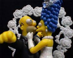 marge and homer simpson wedding cake topper tvs boda y pareja