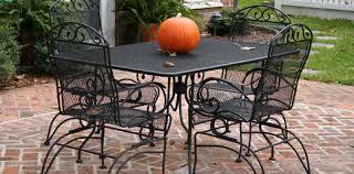 Square Patio Table Patio U0026 Pergola Stunning Black Metal Patio Furniture With Chiars