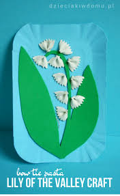 bow tie pasta lily of the valley craft for kids spring crafts