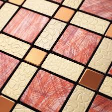 Wholesale Metal Tiles Backsplash Gold Bump Arts Aluminum Panel - Decorative backsplash