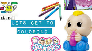 coloring pages squinkies toys baby art colours for kids with