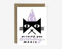 worthwhile paper magic black cat birthday card ritual ritual