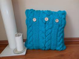 knit home decor cable knit pillow cover pillow cream turquoise pillow