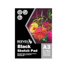 reeves black sketch pad a3 140gsm 20 sheets staples now winc