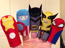 superhero finger puppets marvel and doc comics great for kids