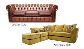 Microfiber Leather Sofa Microfiber Or Leather Sofa Which One To Buy