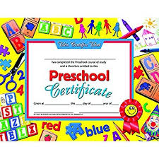 preschool certificates preschool certificate set of 30 blank business
