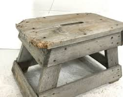 Shabby Chic Footstool by Rustic Step Stool Etsy
