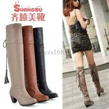womens boots low heel low heel popular cut pu leather boots boots increase