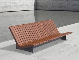garden bench public contemporary wooden aria larus design