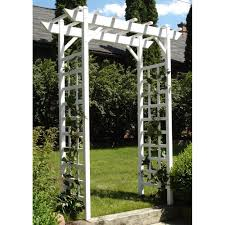 Trellis Rental Wedding Dura Trel 64 In W X 85 In H X 28 In D White Vinyl Pvc