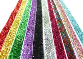 patterned ribbon glitter metallic ribbon creative craft supplies for buttons