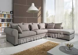 canapé d angle tissu pas cher canapé d angle 6 places gauche ou droit coloris brun clair en tissu