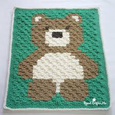 How To Crochet A Rug Out Of Yarn Crochet C2c Bernat Blanket Bear Repeat Crafter Me