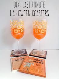 last minute halloween party ideas diy last minute halloween coasters