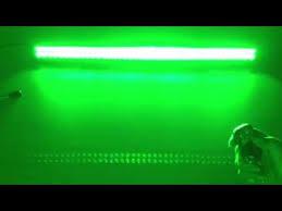 41 5 inch white and green strobe light bar light bars