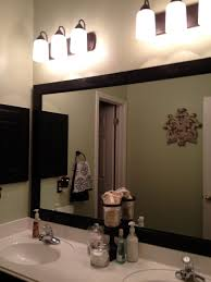 bathroom cabinets triple white wooden frame wall mirror ikea