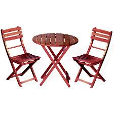 wooden 3 piece bistro set with folding chairs walmart com