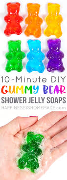 make your own gummy bears gummy shower jelly soaps happiness is