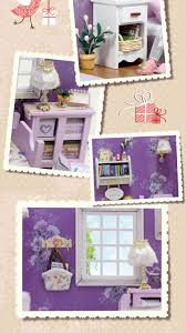 cutroom 1 32dollhouse miniature diy kit with cover led light sweet