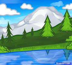 draw landscape kids step step landscapes