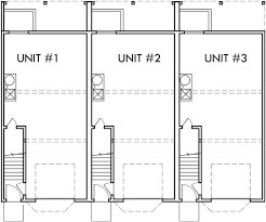 2 floor house plan triplex house plans townhouse plans 2 bedrm triplex plans t 415