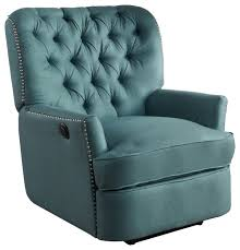 Fabric Recliner Armchair Palermo Tufted Fabric Power Recliner Chair Transitional