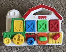 Toy Barn With Farm Animals Vintage 1993 Fisher 75826 Toy Poppin Pop Up Pals Tractor Farm Barn