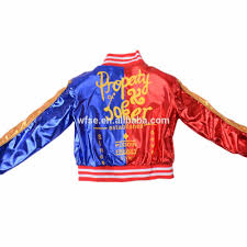 halloween jacket squad harley quinn blue and red halloween jacket cosplay