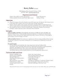 Sample Resume Qa Tester by Weblogic Objective Resume Td Bank Teller Resumes Personal Banker