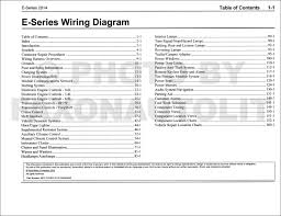 2014 ford econoline wiring diagram manual original van e150 e250