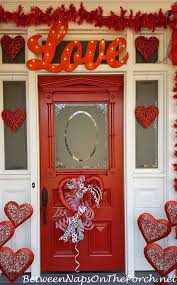 valentine u0027s day decorations decorate the porch front door and a