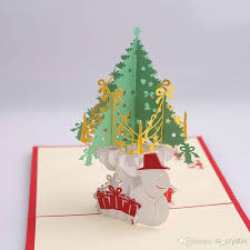 3d christmas tree diy gift card merry christmas greeting card