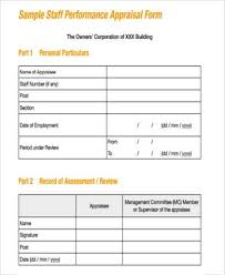 sample management appraisal forms 7 free documents in pdf