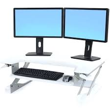 dual monitor stand up desk desk uplift height adjustable standing desk converter reviews