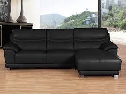 canapé d angle cuir noir canapé d angle cuir de vachette perla 4 places noir 53968 53970