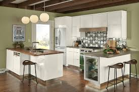 kraftmaid dove white kitchen cabinets complementary geometry kraftmaid