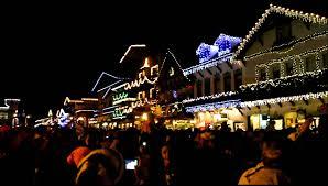 christmas lighting leavenworth wa youtube