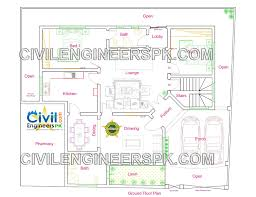 new 12 marla house design civil engineers pk