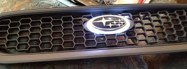 custom subaru emblem diy car mods series 20 honeycomb grille insert from the ford