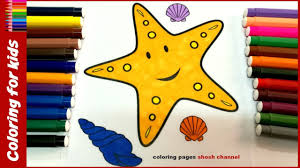 starfish coloring page how to color starfish drawing pages for