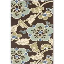 4x6 Outdoor Rug 4 6 Outdoor Rug Stirring Veranda Area Rug Chocolate Aqua Veranda