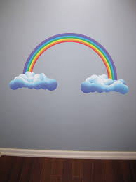 rainbow wall stickers for the kids room view in gallery