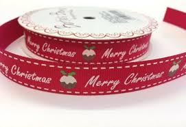 merry christmas ribbon bertie s bows merry christmas pudding ribbon 16mm daisymoon