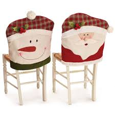 snowman chair covers pack of 6 santa hat dining chair covers christmas party decoration